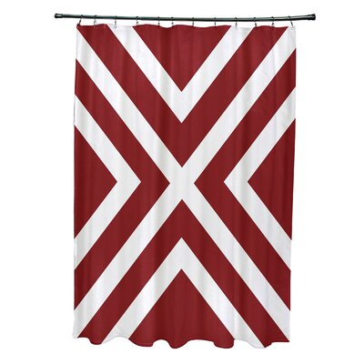 Layton Stripes Shower Curtain Color: Red