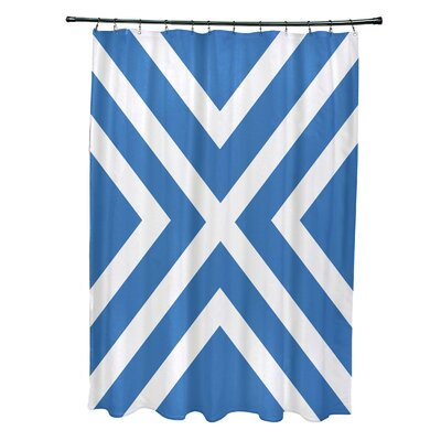 Layton Stripes Shower Curtain Color: Blue