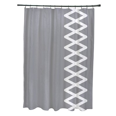 Layton Geometric Shower Curtain Color: Gray
