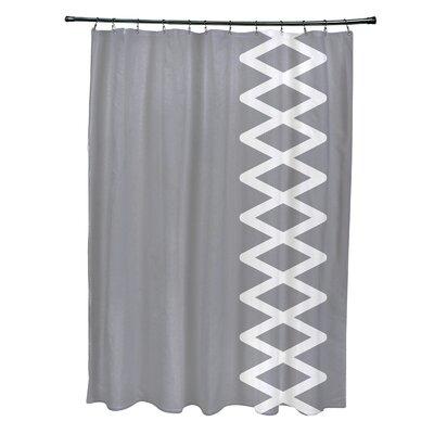 Layton Geometric Shower Curtain Color: Gray