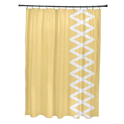 Layton Geometric Shower Curtain Color: Yellow