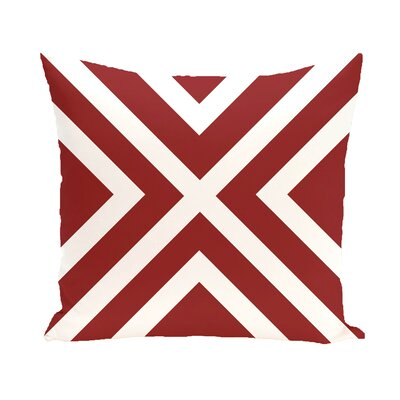 Layton Throw Pillow Size: 18 H x 18 W, Color: Cardinal Red