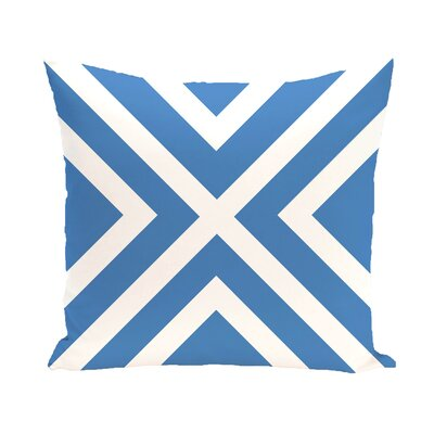 Layton Geometric Throw Pillow Size: 18 H x 18 W, Color: Blue