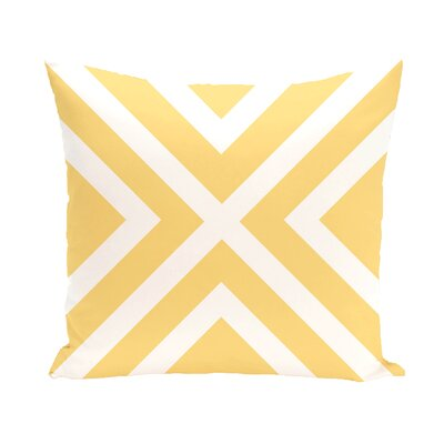 Layton Throw Pillow Size: 16 H x 16 W, Color: Yellow