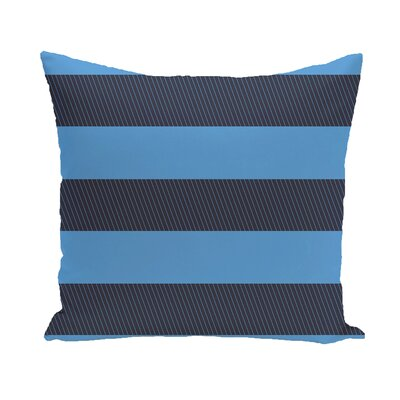 Layton Stripe Throw Pillow Color: Navy Blue/Blue, Size: 20 H x 20 W