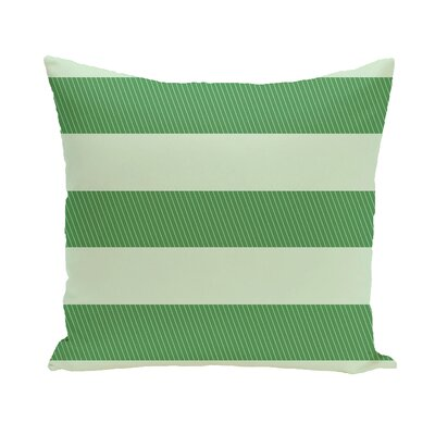 Layton Stripe Throw Pillow Color: Green, Size: 18 H x 18 W