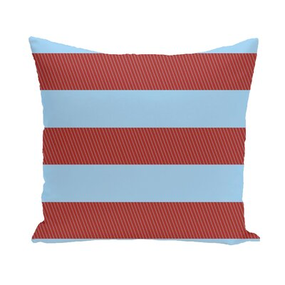Layton Stripe Throw Pillow Size: 18 H x 18 W, Color: Cardinal Red/Blue