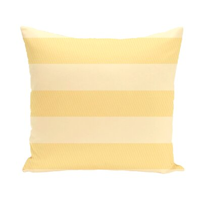 Layton Stripe Throw Pillow Size: 16 H x 16 W, Color: Yellow