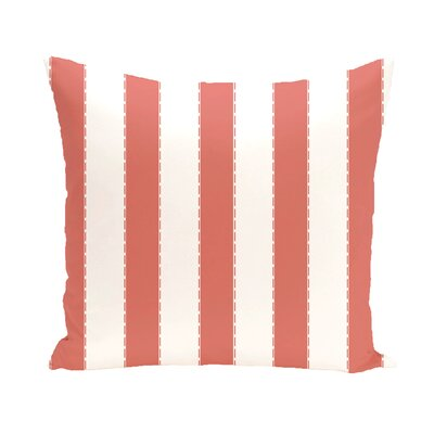 Merrill Throw Pillow Size: 18 H x 18 W, Color: Coral