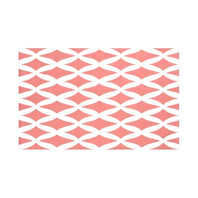 Grover Geometric Print Throw Blanket Color: Seed (Coral), Size: 60 L x 50 W