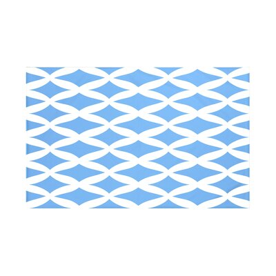 Grover Geometric Print Throw Blanket Size: 60 L x 50 W, Color: Brighter Sky (Blue)