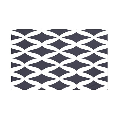Grover Geometric Print Throw Blanket Size: 60 L x 50 W, Color: Navy Blue