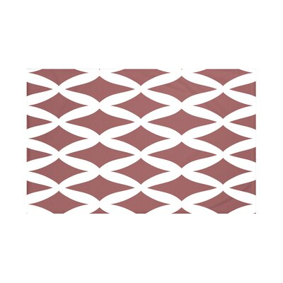 Grover Geometric Print Throw Blanket Size: 60 L x 50 W, Color: Mahogany (Rust)