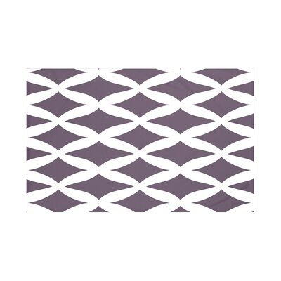 Grover Geometric Print Throw Blanket Size: 60 L x 50 W, Color: Mulberry (Purple)