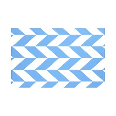 Calusa Geometric Print Throw Blanket Size: 60 L x 50 W, Color: Brighter Sky (Blue)