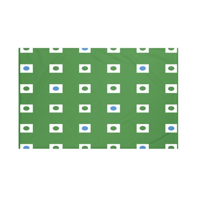 Lambert Geometric Print Throw Blanket Size: 60 L x 50 W, Color: Leaf Green (Green/Blue)