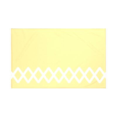 Vanguard Geometric Print Throw Blanket Size: 60 L x 50 W, Color: Lemon (Yellow)