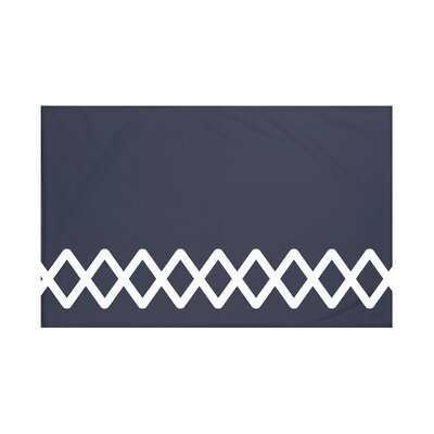 Vanguard Geometric Print Throw Blanket Size: 60 L x 50 W, Color: Navy Blue