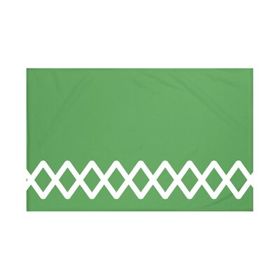 Vanguard Geometric Print Throw Blanket Size: 60 L x 50 W, Color: Leaf Green (Green)