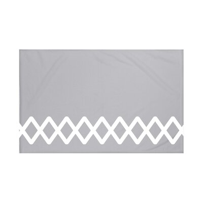 Vanguard Geometric Print Throw Blanket Size: 60 L x 50 W, Color: Classic Gray (Gray)