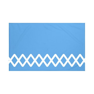 Vanguard Geometric Print Throw Blanket Size: 60 L x 50 W, Color: Azure (Blue)