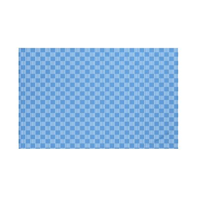 Belaire Geometric Print Throw Blanket Size: 60 L x 50 W, Color: Azure (Blue)