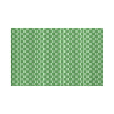 Belaire Geometric Print Throw Blanket Size: 60 L x 50 W, Color: Leaf Green