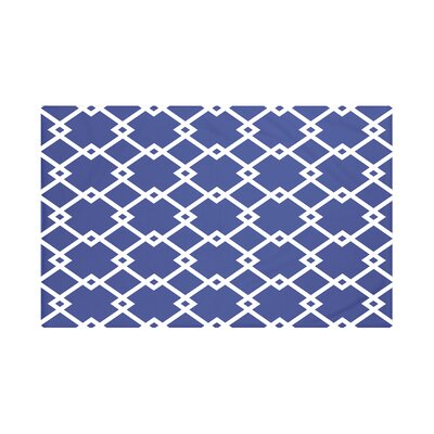 Bakers Geometric Print Throw Blanket Size: 60 L x 50 W, Color: Blue Suede (Royal Blue)
