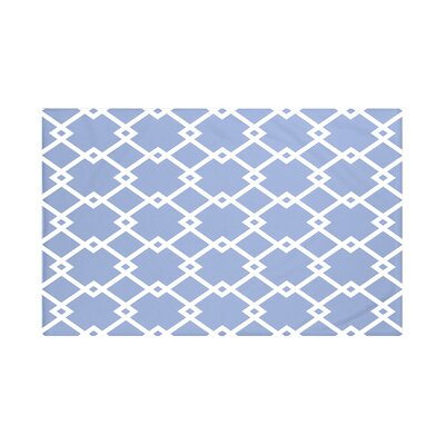 Bakers Geometric Print Throw Blanket Size: 60 L x 50 W, Color: Cornflower (Light Blue)