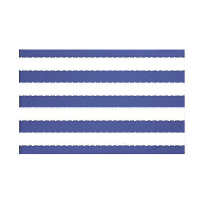 North Bay Stripes Print Throw Blanket Size: 60 L x 50 W, Color: Blue Suede (Royal Blue)