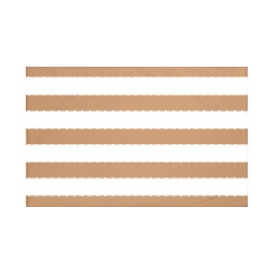 North Bay Stripes Print Throw Blanket Size: 60 L x 50 W, Color: Caramel (Brown)