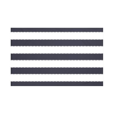 North Bay Stripes Print Throw Blanket Size: 60