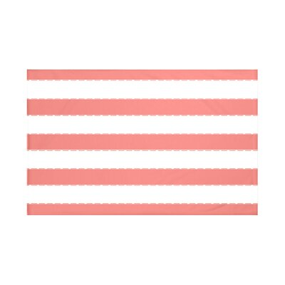North Bay Stripes Print Throw Blanket Size: 60 L x 50 W, Color: Seed (Coral)