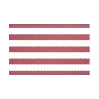 North Bay Stripes Print Throw Blanket Size: 60 L x 50 W, Color: Brick (Rust)