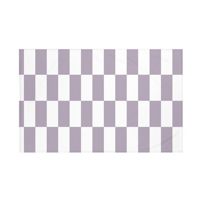 Navarre Geometric Print Throw Blanket Size: 60 L x 50 W, Color: Larkspur (Purple)