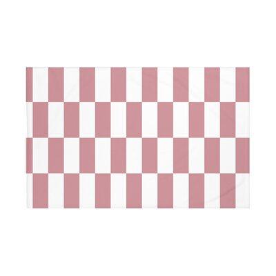 Navarre Geometric Print Throw Blanket Size: 60 L x 50 W, Color: Brick (Rust)