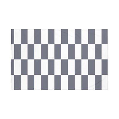 Navarre Geometric Print Throw Blanket Size: 60 L x 50 W, Color: Navy Blue