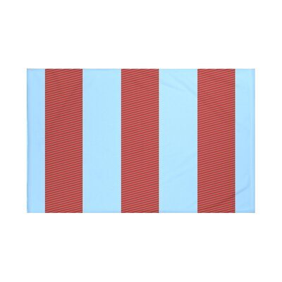 Hibiscus Stripes Print Throw Blanket Size: 60 L x 50 W, Color: Cardinal (Red/Blue)
