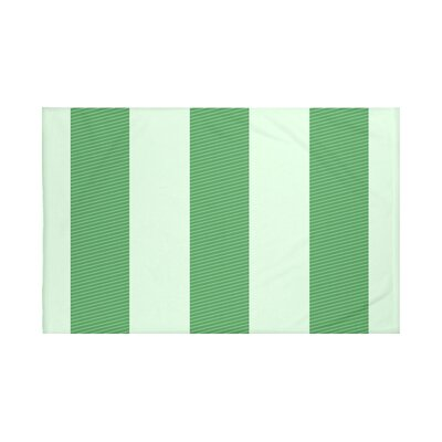 Hibiscus Stripes Print Throw Blanket Size: 60 L x 50 W, Color: Leaf Green (Green)