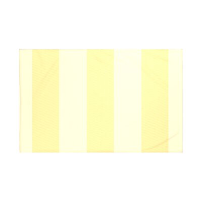 Hibiscus Stripes Print Throw Blanket Size: 60 L x 50 W, Color: Lemon (Yellow)