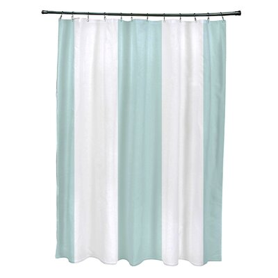 Caymen Stripe Print Shower Curtain Color: Seaside