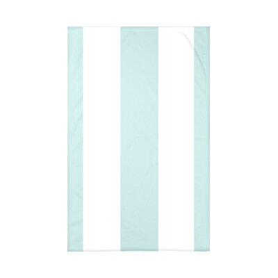 Caymen Stripe Print Polyester Fleece Throw Blanket Size: 60 L x 50 W x 0.5 D, Color: Seaside