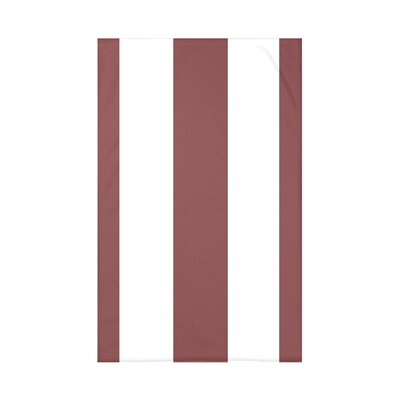 Caymen Stripe Print Polyester Fleece Throw Blanket Size: 60 L x 50 W x 0.5 D, Color: Mahogany