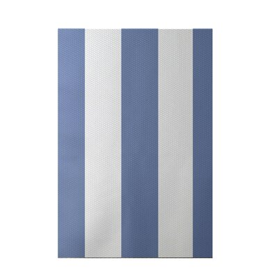 Caymen Stripe Print Cornflower Indoor/Outdoor Area Rug Rug Size: 3 x 5