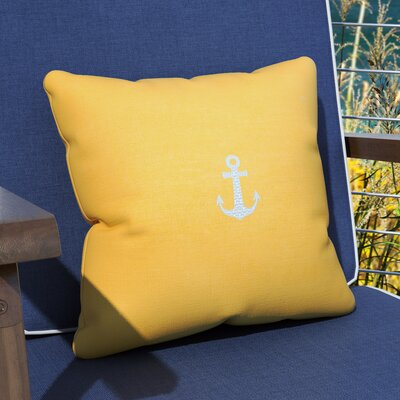 Hereford Outdoor Throw Pillow Size: 12 H x 20 W, Color: Yellow