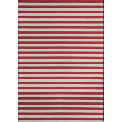 Breakwater Bay Norris Red Indoor/Outdoor Area Rug