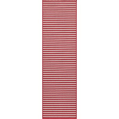 Halliday Red Indoor/Outdoor Area Rug Rug Size: Rectangle 18 x 37