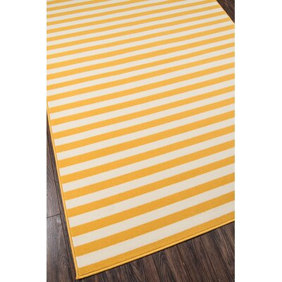 Breakwater Bay Norris Yellow/White Indoor/Outdoor Area Rug