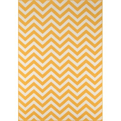 Halliday Traditional Yellow Indoor/Outdoor Area Rug Rug Size: Rectangle 53 x 76