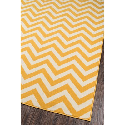Norris Yellow/White Indoor/Outdoor Area Rug Rug Size: Runner 23 x 76